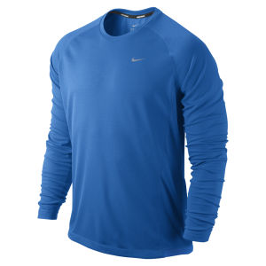 Nike Men's Miler Long Sleeve T-Shirt - Cobalt Blue