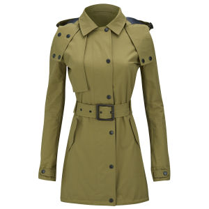 Knutsford Women's Ventile Cotton Slim Fit Parka - Light Olive