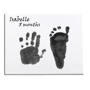 Baby Prints On Canvas Gift Box
