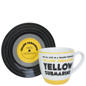 Lennon and McCartney Mug and Saucer Set - Yellow Submarine