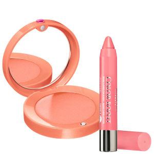 Bourjois Duo-Cream Blush Healthy Glow & Lip Boost Peach on the Beach