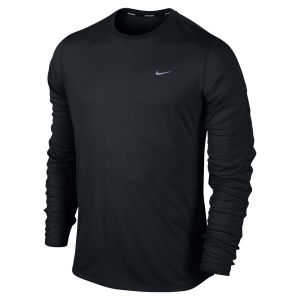 Nike Men's Racer Long Sleeve Running Top - Black