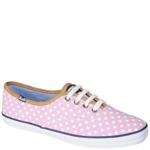 Keds Women's Champion Oxford Pumps - Pink/White Polka Dot