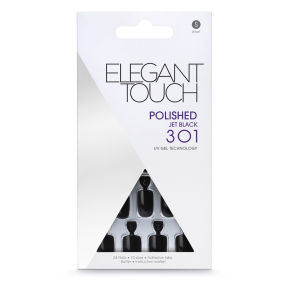 Elegant Touch Polished - Jet Black 301 - Faux ongles