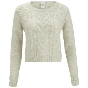Vero Moda Banita Cable Knitted Jumper - Oatmeal
