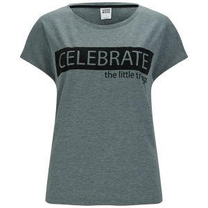 Vero Moda Women's Allison Slogan T-Shirt - Medium Grey Melange