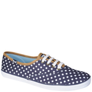 Keds Women's Champion Oxford Pumps - Navy/White Polka Dot