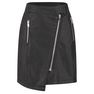 ONLY Women's Linda PU Skirt - Black