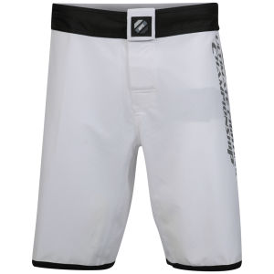 UFC Men's Solid Colour Flight Shorts - White