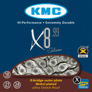 KMC X8-99 Chain - 116 Links/7.3mm - Silver