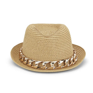Impulse Women's Chain Trilby - Tan
