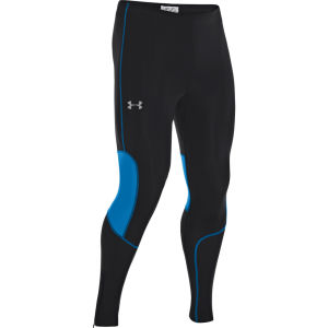 Under Armour Men's Dynamic Run Compression Tights - Black/Electric Blue/Reflective
