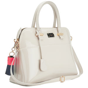 Paul's Boutique Maisy Patent Bowler Bag - Nude
