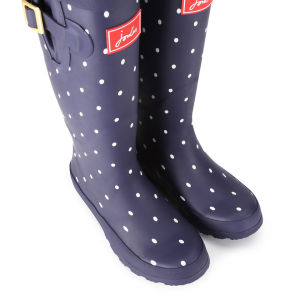 Joules Women's Welly Print Wellies - Navy Spot: Image 5