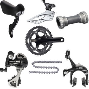Shimano 105 5700 10 Speed Compact 34/50 Groupset - Black