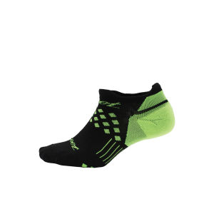 Zoot TT No Show Socks - Black/Green Flash