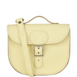 Brit-Stitch Leather Half Pint Shoulder Bag - Wax Lemon (Strap On Back)