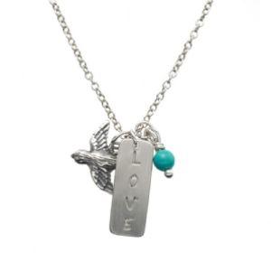 Peculiar Vintage Love Charm Necklace