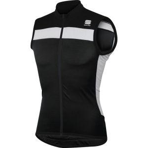 Sportful Pista Sleeveless Jersey - Black/White