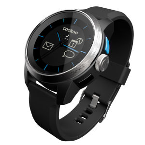 Cookoo Smartwatch - Black on Silver