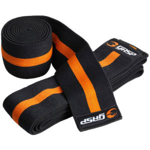 GASP Knee Wraps - Black/Yellow