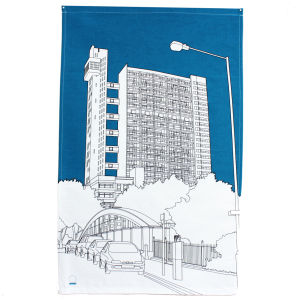Trellick Tower Tea Towel by People Will Always Need Plates