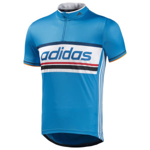 Adidas Response Event Short Sleeve Jersey - Solar Blue/White