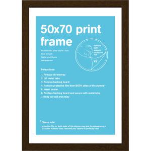 Walnut Frame 50 x 70 cm