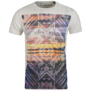 Conspiracy Men's Aztec Printed T-Shirt - White