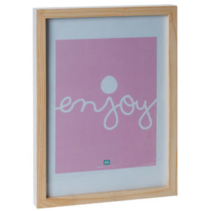 Large Hand Painted Photo Frame - White