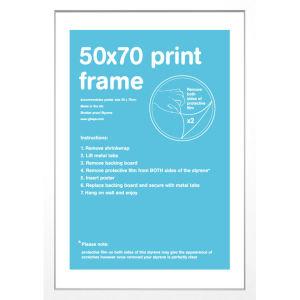 White Frame 50 x 70 cm