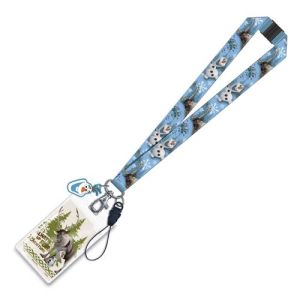 Disney Frozen Olaf And Sven Lanyard Key Chain With ID Holder