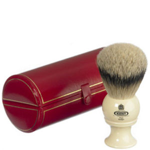 Blaireau de rasage Kent Traditional Pure Silver Tip Badger - Large (BK8)