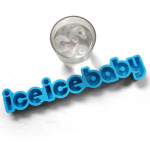 Ice Ice Baby Text Ice Cube Tray