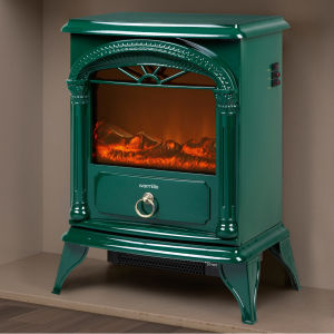 Warmlite WL46012G Log Effect Stove Fire - Green - 1800W