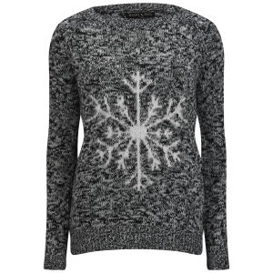 Love Knitwear Women's Kinder Snowflake Christmas Jumper - Grey