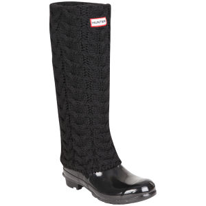 Hunter Women's Grizzly Long Cuff Welly Socks - Black
