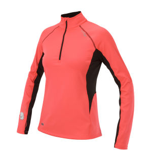 Saucony Women's Drylete Fitted Sport Top - Vizipro Coral/Black