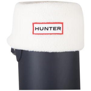 Hunter Unisex Short Fleece Welly Socks - Cream
