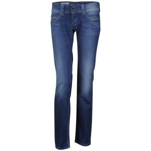 Pepe Women's Venus Stretch Straight Leg Jean - Ocean Blue