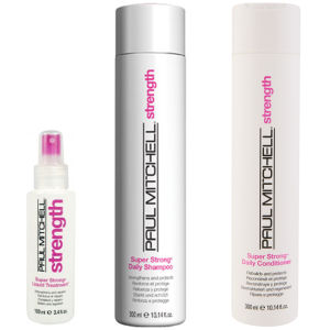 Paul Mitchell Super Strong Trio- Shampoo, Conditioner & Liquid Treatment