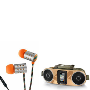 The House of Marley Bag of Rhythm Portable Audio System & Midnight Ravers Earphones with Mic - Sun