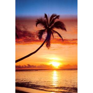Sunset & Palm Tree - Maxi Poster - 61 x 91.5cm