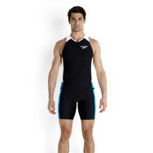 Speedo Men's LZR Racer Tri Comp Suit - Black/Pool/White