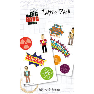 Planche de Tatouages Bazinga The Big Bang Theory