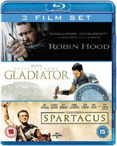 Gladiator / Spartacus / Robin des Bois
