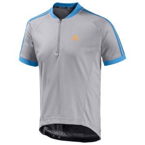 Adidas Response Short Sleeve Jersey - Mid Grey/Solar Blue