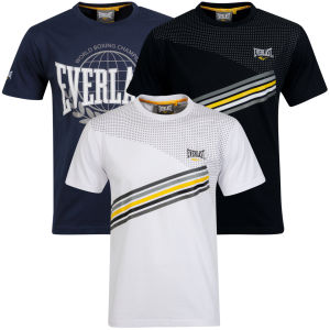 Everlast Men's 3-Pack Graphic T-Shirts - White/Black/Navy