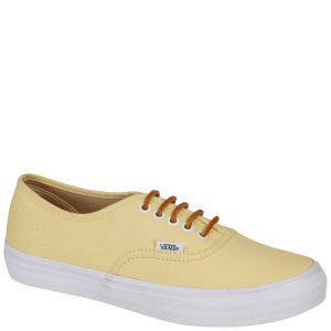 Vans Authentic Slim Brushed Twill Trainer - Sunlight Yellow