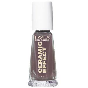 Layla Cosmetics Ceramic Effect Nail Polish N.12 Elegant Mud (10ml)